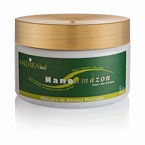 Mascara de Nutrição - Fortalece Cabelo Danificado - Anti Frizz - Nano Amazon - Andirah Brasil
