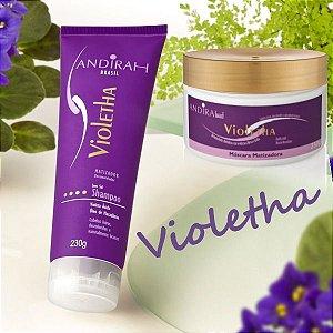 Kit Matizador -  O melhor matizador de cabelo loiro, platinados e grisalhos - Violetha -  Andirah Brasil
