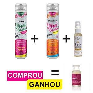 Combo Cabelos Cacheados + Serum Capilar + Ampola Reconstrutora de brinde