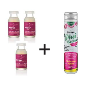 Combo: 3 Ampolas Reconstrutora + Shampoo Cabelos Cacheados