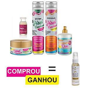 Combo Cabelo Crespíssimo (Todas Curvaturas) + Ampola Reconstrutora + Brinde (1 und. Serum Nutritivo Capilar)