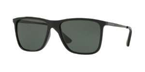Óculos Jean Monnier J84128 G054 Preto Lente Verde Escuro Tam 56