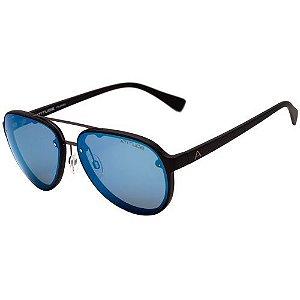 Óculos de Sol Atitude At 5386 A03 Preto Fosco/ Azul Espelhado Polarizado