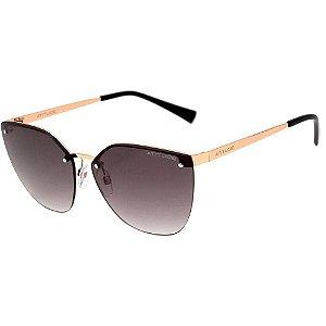 Atitude At 3214 - Óculos De Sol 04a Dourado Brilho/ Marrom Degradê
