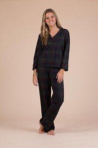 Pijama cotton xadrez.