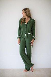 Pijama verde com bolso - 20.4020