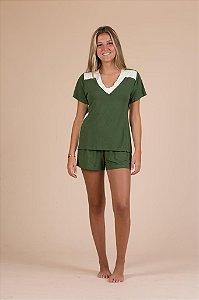 Short doll em malha cor verde