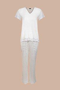 Pijama Malha Bolinhas - 202.C019