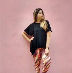 Calça Leagging Básica Estampada Plus Size