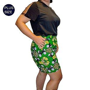 Shorts Tecido Curto Plus Size em estampado Africano  tecido 100% Algodão