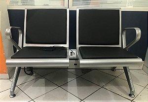 Longarina Aeroporto PRATA C/ OPÇÃO DE TOMADAS