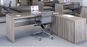 Mesa diretor PE50 com armário lateral