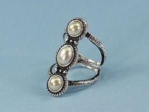 Anel em aro, banho de prata 925, pedras em resina de polyester