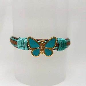 Pulseira infantil de borboleta turquesa
