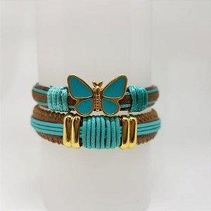 Conjunto de pulseiras infantil turquesa