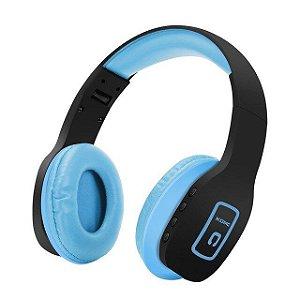 Headphone Dobrável Bluetooth Estéreo Música Sem Fio 4.1 azul