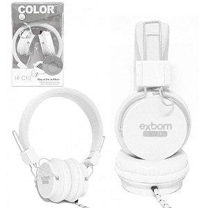 Fone Com Microfone Exbom Hf-C10 Branco
