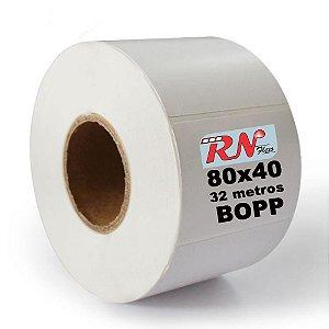 Etiquetas Adesivas 80x40 BOPP 32 Metros - 5 rolos