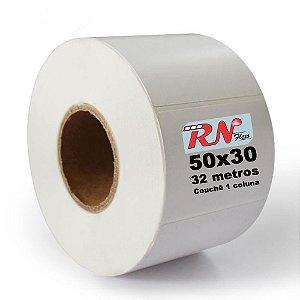 Etiqueta para Laboratório 50x30 mm Couchê 1 Coluna 32 Metros - 5 rolos