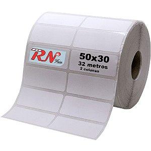 Etiquetas para Laboratório 50x30 mm Térmica 2 Colunas 32 Metros - 5 rolos