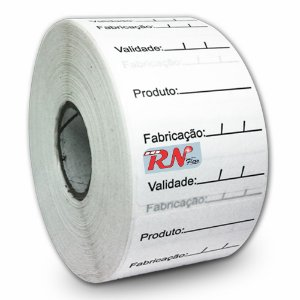 Etiquetas Adesivas 40x40 mm BOPP Prazo De Validade Milheiro - 5 rolos