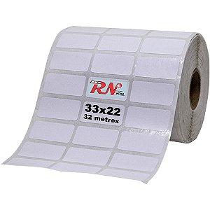 Etiqueta Térmica Adesiva 33x22 mm - 3 Colunas 32 Metros