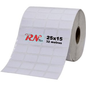 Etiqueta Térmica Adesiva 25x15 mm - 4 Colunas 32 Metros - 5 rolos