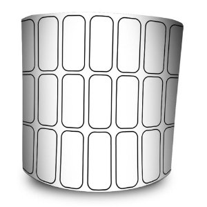 Etiqueta Adesiva 25x10 mm BOPP - 3 Colunas 32 Metros 5 Rolos