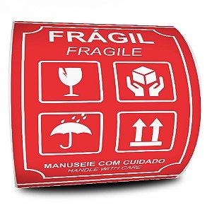 Etiquetas Adesivas Frágil Fragile 108x150 - 500 Etiquetas - 2 Rolos