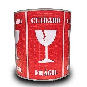 Etiquetas Adesivas Selo Frágil Taça - 1000 Etiquetas - 2 rolos