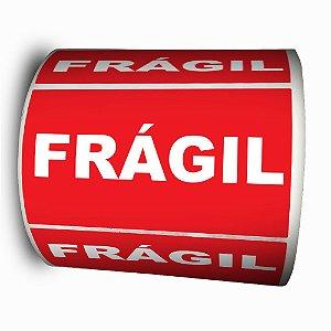Etiquetas Adesivas Selo Frágil 100x50 mm - 1000 Etiquetas - 4 rolos