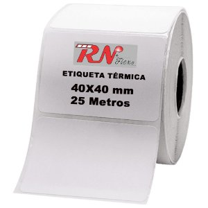 Etiquetas para Balança 40x40 mm - 25 metros - 10 rolos