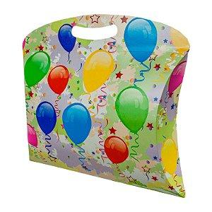 Caixa Travesseiro Tamanho Médio (M) (25x19cm) Balões com 5 Caixas