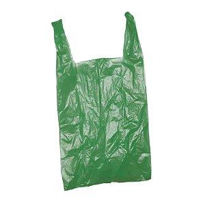 Sacola Plástica 38x48cm 0,0035mm Reciclada Verde com 3 kg