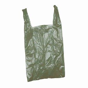 Sacola Plástica 40x50cm 0,007mm Reciclada Reforçada Verde com 5 kg
