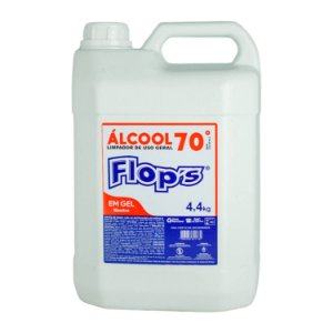 Álcool Etílico em Gel 70% Flop's 4,4kg (5 Litros)