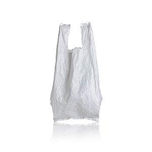 Sacola Plástica 25x35cm 0,0012mm Branca com 1.000 Sacolinhas