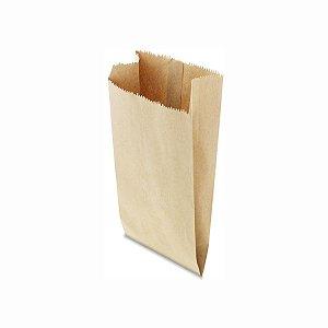 Saco de Papel Pardo 14x32cm 3 Kg com 500 Embalagens
