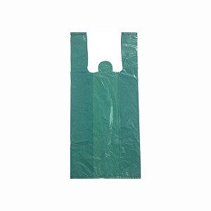 Sacola Plástica 60x80cm 0,007mm Reciclada Azul/Verde