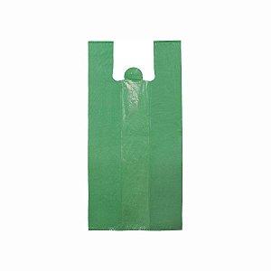 Sacola Plástica 40x50cm 0,006mm Reciclada Verde