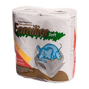 Papel Higiênico Familiar Soft Folha Simples 16 Pacotes com 4 Rolos