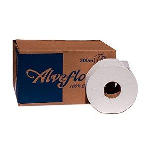 Papel Higiênico Rolão Folha Simples com 8 Rolos de 300m Alveflor