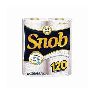 Papel Toalha Folha Dupla para Cozinha Snob 02x60 Folhas