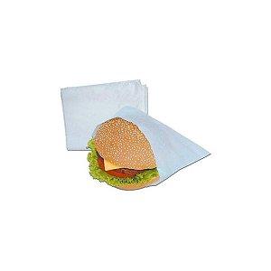 Saco Plástico PE Leitoso 24x18cm para Lanche com 1kg, 330 Sacos