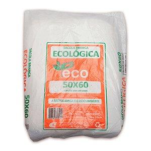 Sacola Plástica 50x60cm Ecológica Branca com 1000 Sacolas Centralplast Eco