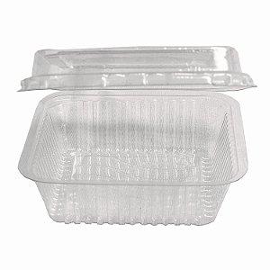Embalagem Quadrada para Doce com Tampa Articulada Nº650 150ml Pplast