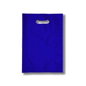 Sacola Plástica Boca de Palhaço 20x30cm 0,012mm Azul com 1 kg, 135 Sacolinhas