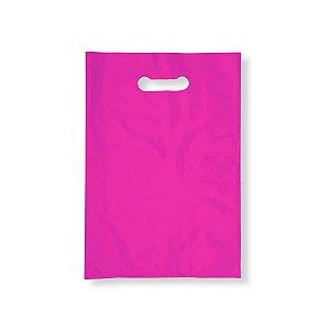 Sacola Plástica Boca de Palhaço 20x30cm 0,012mm Rosa com 1 kg, 135 Sacolinhas