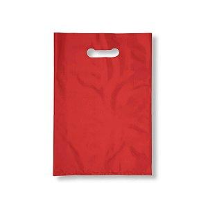 Sacola Plástica Boca de Palhaço 30x40cm 0,012mm Vermelha com 1 kg, 67 Sacolinhas