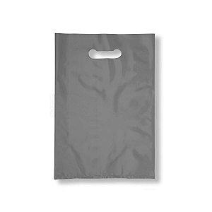 Sacola Plástica Boca de Palhaço 30x40cm 0,012mm Prata com 1 kg, 67 Sacolinhas